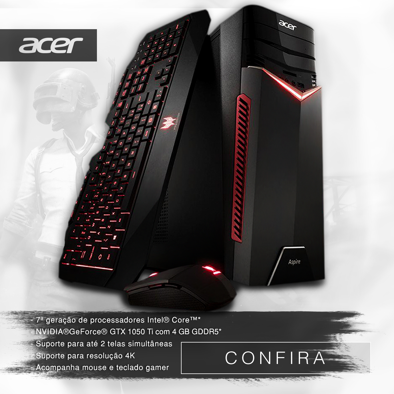 Desktop Gamer Acer Aspire