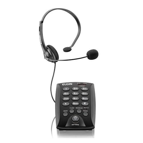Telefone Headset Preto Elgin Hst 6000