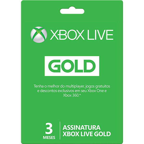 Assinatura Xbox Live Gold Card de 3 meses 2YP - 00014