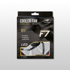 Cooler Fan C3Tech Storm Series F7 com Led Vermelho - 12cm - F7-L130RD