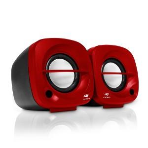 Caixa de Som Speaker 2.0 3W Preta/Vermelha SP-303RD