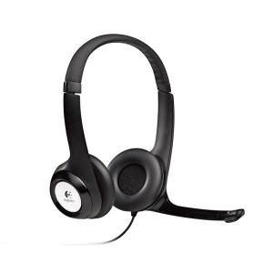 Headset Logitech USB H390 Preto 981-000014