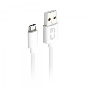 Cabo Micro USB 1 metro C3Plus CB-M10 Branco