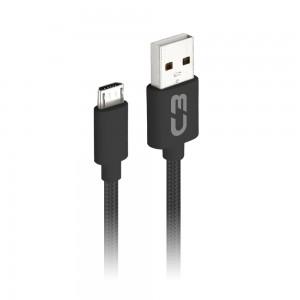 Cabo Micro USB 1 metro C3Plus CB-M11 Preto