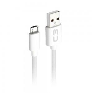 Cabo Micro USB 2 metros C3Plus CB-M21 Branco