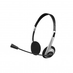 Headset C3plus PH-01 Stereo com Microfone, Prata