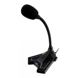 Microfone Gamer Articulado C3tech MI-G100, preto