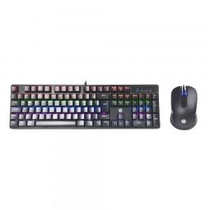 Kit Teclado Mecânico e Mouse Gaming HP GM200 Iluminação LED