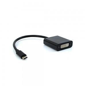 Cabo Adaptador Entrada USB Tip-C Saída DVI - ADP-301 - Pluscable