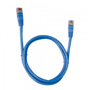 Cabo de Rede Patch Cord CAT.6E Azul 5,0 Metros Pluscable