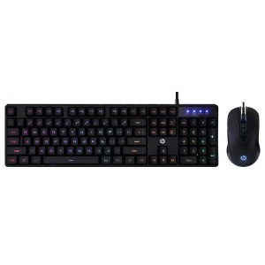 Kit Teclado e Mouse HP KM200 Iluminação LED