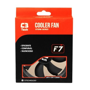 Cooler Fan C3Tech Storm Series F7 - 12cm - F7-100BK