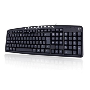 TECLADO USB MULTIMIDIA ABNT2 C3 TECH KB2237 PRETO