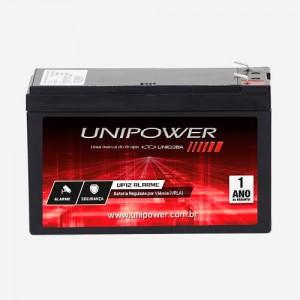 Bateria Unipower Up12 Alarme - F187 - 12v - 7ah Chumbo Ácido (VRLA)