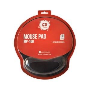 Mouse Pad com Apoio em Gel C3Tech MP-100