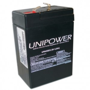 Bateria Unipower F187 - 6v - 4,5ah- Up645 Seg