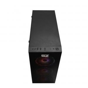 Gabinete Gamer Storm-Z Angry - Lat. Vídro, USB 3.0, 3x Fans Led Vermelho, Preto, sem Fonte