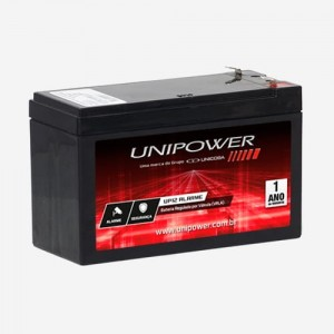 Bateria Selada Unipower UP1270SEG 12V 7Ah F187 p/ Nobreak/alarme