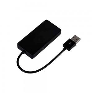 Hub USB 4 Portas 2.0 C3Tech HU-220BK (preto)