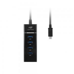 Hub USB 4 Portas 3.0 C3Tech HU-C300BK (preto)