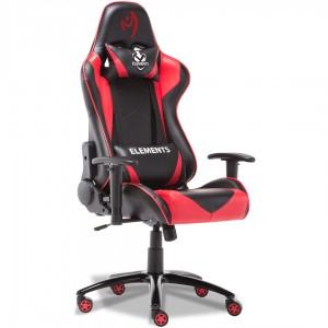 Cadeira Gamer Elements Veda Ignis, Vermelha e Preta